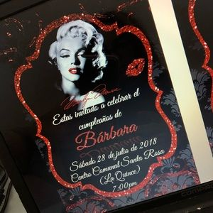 Other - Personalized digital invitation Marilyn Monroe